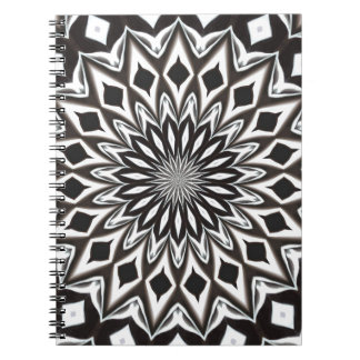 Black And White Decorative Mandala Notebook