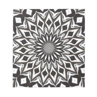 Black And White Decorative Mandala Notepad