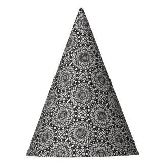 Black And White Decorative Mandala Party Hat