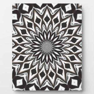 Black And White Decorative Mandala Plaque