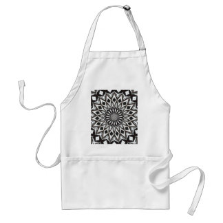 Black And White Decorative Mandala Standard Apron