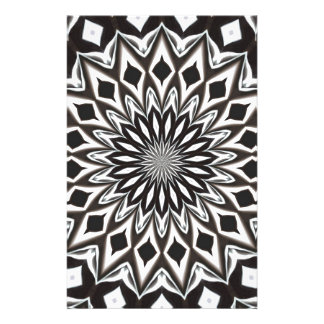 Black And White Decorative Mandala Stationery