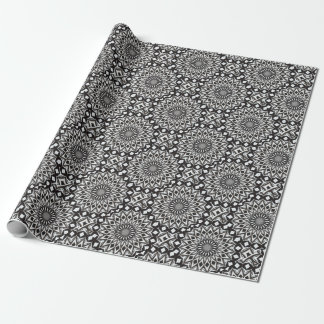 Black And White Decorative Mandala Wrapping Paper