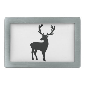 Black and white deer belt buckle