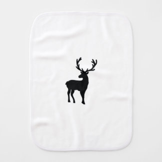 Black and white deer burp cloth