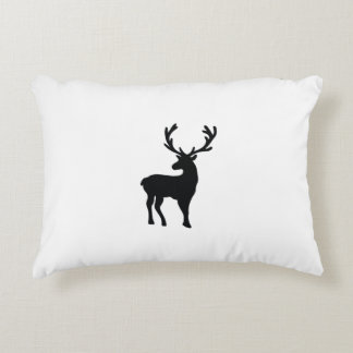 Black and white deer decorative pillow