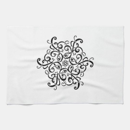 Black and White Design Kitchen Towel