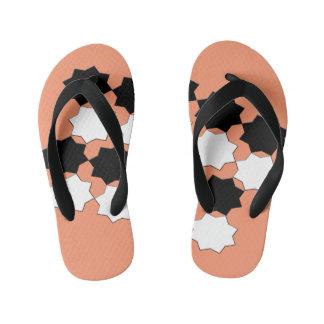 Black and White Design Sandals Kid's Flip Flops