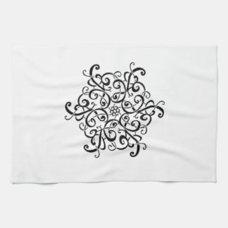 Black and White Design Towel