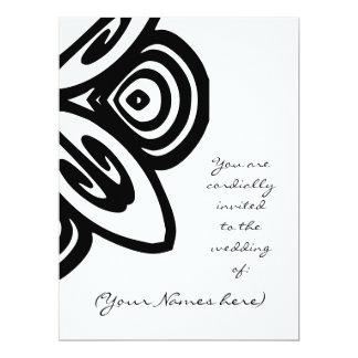 Black and White Design Wedding Invite