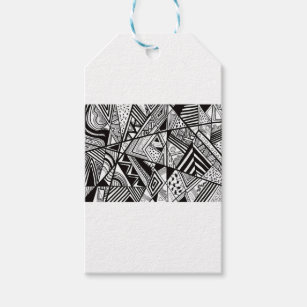 Black And White Designs 5 Gift Tags
