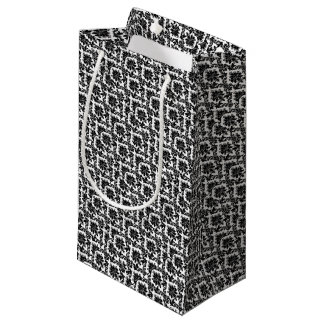 black-and-white-designs-patterns-ZESPG1-clipart.gi Small Gift Bag