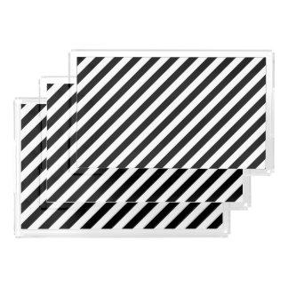 Black And White Diagonal Stripes Pattern Perfume Tray