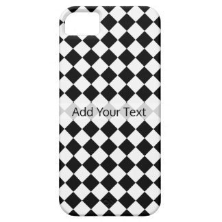 Black and White Diamond Pattern by Shirley Taylor iPhone 5 Cover