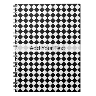 Black and White Diamond Pattern by Shirley Taylor Notebooks