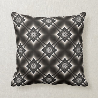 Black and White Diamond Pattern Throw Pillow