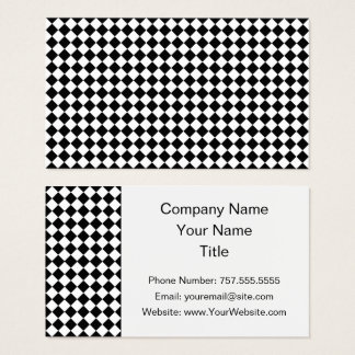 Black And White Diamond Shape Pattern by STaylor Business Card