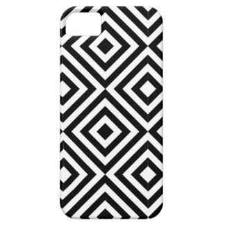 Black and White Diamond Shape Pattern iPhone 5 Case