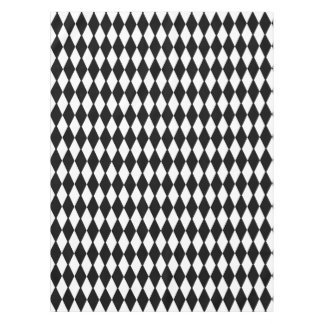 Black And White Diamonds Tablecloth