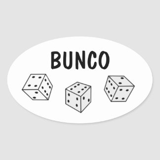 Black and White Dice Bunco Personalize Sticker