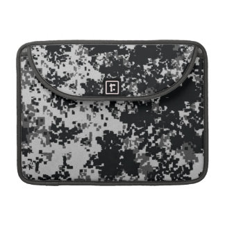 Black and White Digital Camouflage Sleeve For MacBook Pro