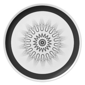 Black and White Dinnerware Dinner Plate
