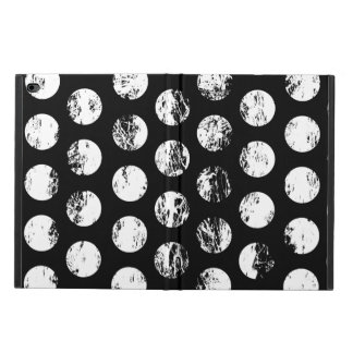 Black and White Distressed Spots Pattern