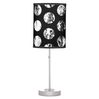 Black and White Distressed Spots Pattern Desk Lamps