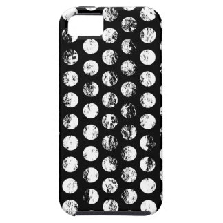 Black and White Distressed Spots Pattern iPhone 5 Covers