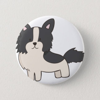 Black and White Dog 2 Inch Round Button