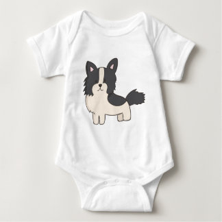 Black and White Dog Baby Bodysuit