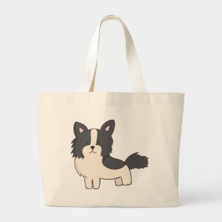 Black and White Dog Large Tote Bag