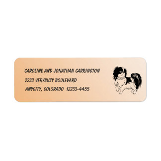 Black and White Dog on Orange Return Address Label