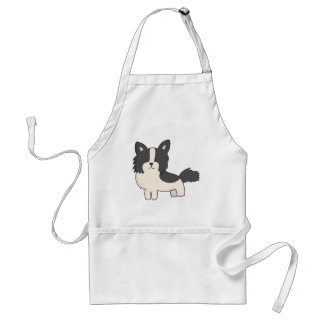 Black and White Dog Standard Apron