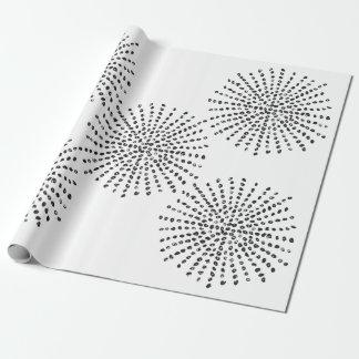 Black and White Dot Burst Pattern Gift