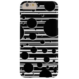 Black and White Dots and Stripes Barely There iPhone 6 Plus Case