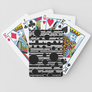 Black and White Dots and Stripes Bicycle Playing Cards