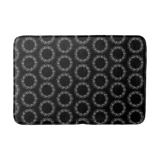 Black And White Dots Bath Mat