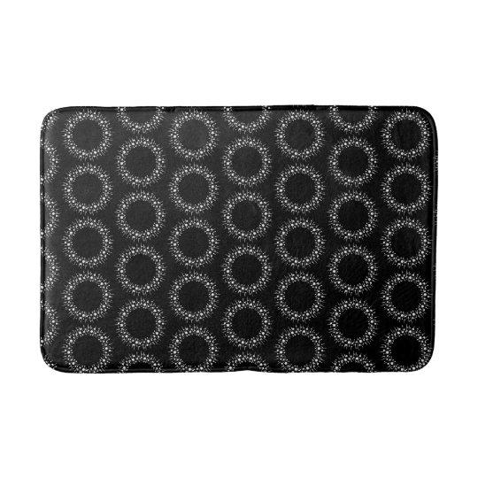 Black And White Dots Bath Mat