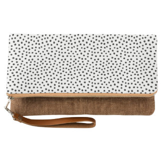 Black and white Dots Clutch
