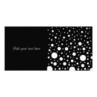 Black and White Dots Custom Photo Card