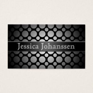 Black and White Dots Standard Business Cards