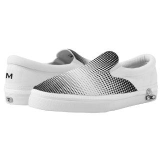 Black and White Dots Zipz Slip On Shoe