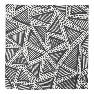 Black and White Dotted Triangle Duvet Cover