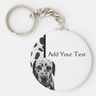 Black and White Dotty Dalmatian Keychain
