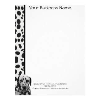 Black and White Dotty Dalmatian Letterhead Template