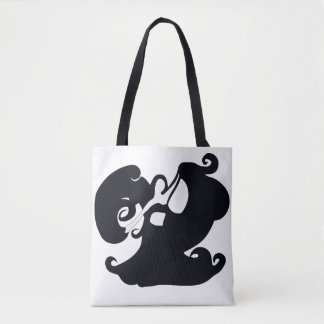 Black And White Double Sided Tote