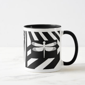 Black and White Dragonfly Mug