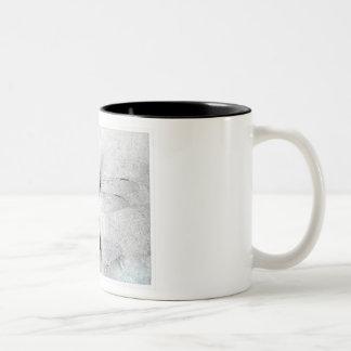 black and white dragonfly Two-Tone coffee mug