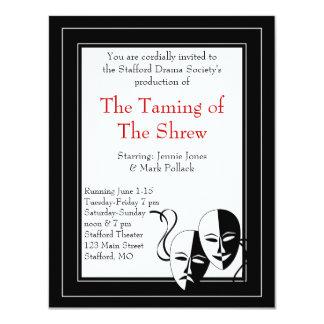 Black and White Drama and Theater Invitation